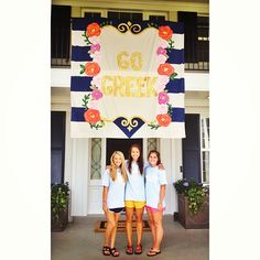 Weird...I see this on pinterest and I literally took this photo 5 hours ago! :) Go Greek. Go Kappa.