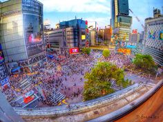 """""""The Scramble"""" Shibuya Crossing @ Shibuya, Tokyo Japan -one of the biggest and busiest intersection in the world"""