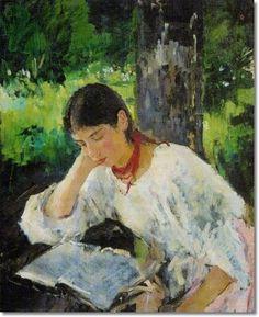 liseuse de Valentin Serov