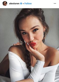 the beautiful alexis rené glabach #alexisren #redlips #instagram #beauty