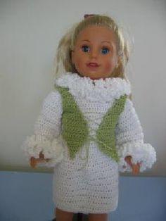 Crochet free dress pattern for American Girl Doll