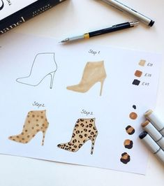 FASHION ILLUSTRATION Drawing Tutorial: A love of all things leopard. 🐆 Something different today- a simple little step-by-step guide to drawing leopard print (Swipe across for… Fashion Illustration Tutorial, Fashion Drawing Tutorial, Fashion Figure Drawing, Fashion Drawing Dresses, Fashion Illustration Dresses, Drawing Fashion, Fashion Illustrations, Dress Design Drawing, Dress Design Sketches