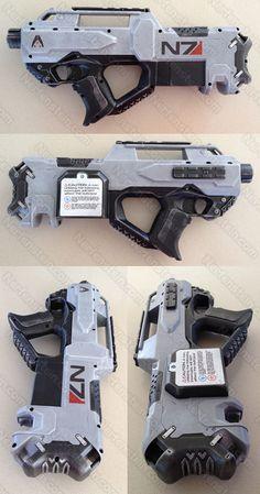 Mass Effect 3 N7 blaster Nerf gun mod