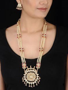 caa1a0d22f6964 Buy Fashion Necklaces and Pendants Online at Jaypore.com. Fashion  NecklacePink And GoldEarring SetCrochet ...