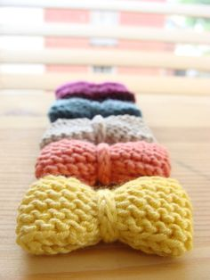 Knitted Bow Hair Clip, for the nieces perhaps?