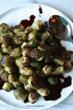 Roasted Brussels Sprouts with Sweet Balsamic Syrup by Lauren's Latest- This would be perfect with Star Balsamic Vinegar!