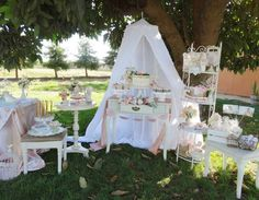 A beautiful Shabby Chic Garden themed Baptism for a little girl. See more party ideas at CatchMyParty.com