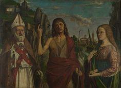 Saint Zeno, Saint John the Baptist and a Female Martyr probably about 1495, Bartolomeo Montagna