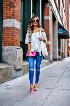 New Heels Outfits School 22 Ideas Pink Heels Outfit, Heels Outfits, Pink Outfits, Cute Outfits With Jeans, Cute Summer Outfits, Bright Pink Heels, Pink Pumps, Spring Looks, Henri Bendel