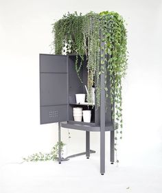 @chaiwanwanchai of #studioyak, designed a piece of multifunctional #furniture that is a #gardening #cabinet as well as a #planter. Inspired by a love of botany, Preecharpurmprasit created Camouflage to store all the tools necessary to grow plants while incorporating space to actually grow them.