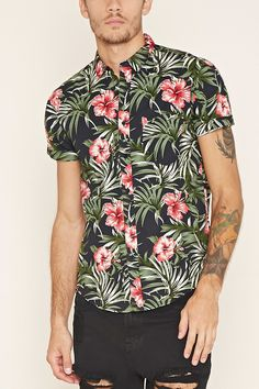 Tropical Print Shirt | 21 MEN - 2000185617