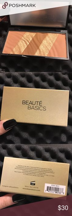 NEW!!!! Beauté basics bronze essentials This bronzer is brand new with the original box. Never been used! Film is still on mirror! beauté basics Makeup Bronzer
