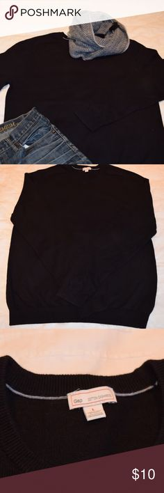 Gap black wool cotton cashmere sweater Large Men's Gap Black cotton cashmere sweater. Size Large.  EUC.  No rips, tears, or snags.  Smoke and per free home. GAP Sweaters Crewneck