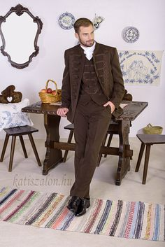 Nem csak vőlegényeknek ajánljuk ezt a 3 részes bocskait Men's Suits, Places, Modern, Style, Fashion, Boys, Swag, Moda, Lugares