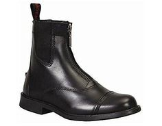 Paddock and Jodhpur Boots 100253: Tuffrider Women S Baroque Front Zip Paddock Boots - Black - Size:8 -> BUY IT NOW ONLY: $31.99 on eBay!