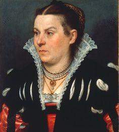 "Moroni, Giovanni Battista c. 1530 – 1587.  ""Portrait of a lady"", undat.  Oil on canvas, 52.8 × 45.5cm. Inv. No. 128 (unlike his contemporaries, Moroni never flattered women, i find that interesting)"