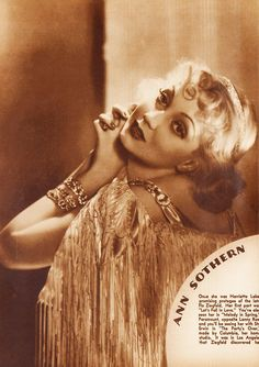Actrerss Ann Sothern from 1933.