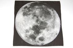 Moon Print Silk Square Scarf by pillarsofcreation on Etsy, $50.00