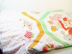 SALE VINTAGE Strawberry Shortcake Curtain Panel by WitsEndDesign, $27.00