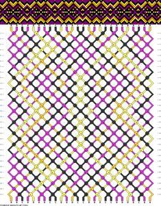 Muster # 93582, Streicher: 26 Zeilen: 30 Farben: 4
