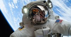 NASA Space Selfie Is Out of This World Astronaut Mike Hopkins a flight engineer on Expedition 38 took this selfie during his Christmas Eve spacewalk.