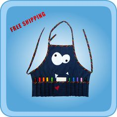 Monster Art Apron Kids Apron by ohsewmuch on Etsy, $21.95