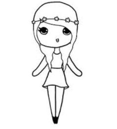 Geek girl template | Chibis | Pinterest | Geek culture, Girls and ...