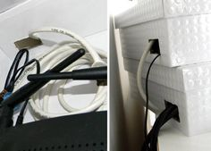 Creative Ways to Hide The Eyesores Around Your Home --> Hide your wireless router in fancy storage boxes #tips #organizing