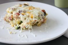 Breakfast Quinoa Casserole. Be sure to parboil quinoa first