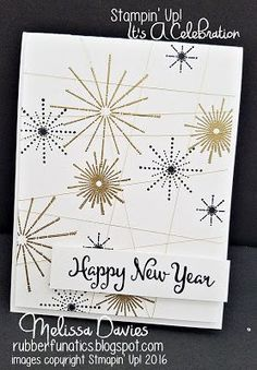 stampin up its a celebration by melissa davies rubberfunatics stampinup new year cards