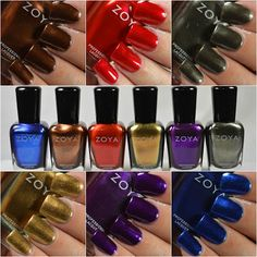 Zoya Flair Fall 2015 Swatches
