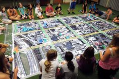 This is neat idea!  I wan tto do this with MY town.  Zombie Survival teen program with a giant blown up map of downtown Delaware. Check this out to see how it was done.