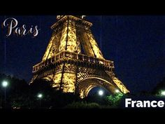 Eiffel Tower in the night (Paris, France) Paris Eiffel Tower, Night Time, Paris France, Elevator, Building, Travel, Youtube, Construction, Trips