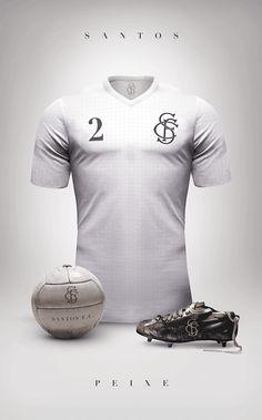 uniformes clubs futbol vintage santos de brasil
