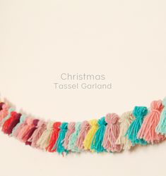 I'm finally getting around to making my Christmas decorations! Our flat is still undergoing general decorating and so it is a bit bare at the moment. It's all good though, it just means we have more room for tinsle and pom poms right! After putting up our tree I decided to make this colourful garland …