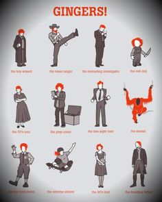 Funny Infographics - A Gingers Infographic. Funny Infographic about Gingers.