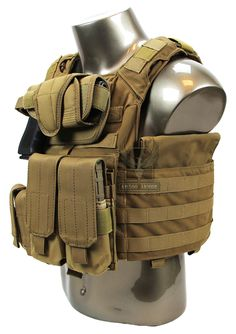 AR500 Armor® Banshee Package Side Angle - Coyote
