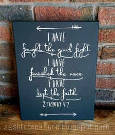 ChalkboardLook Hand Painted Canvas 2 Timothy 47 by sashtotreasure, $35.00