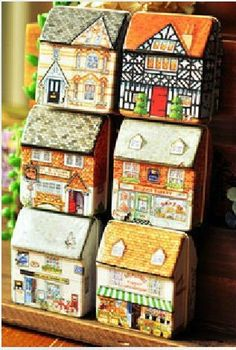 Cute tin house/ wedding candy gift case/ by MyPaperCrafting, $10.00