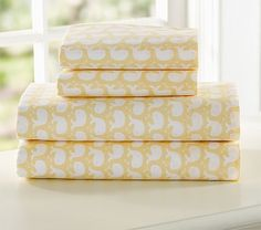 yellow Whale Sheeting on potterybarnkids.com