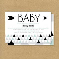 Baby Shower Invitation -- Triangles & Arrows — Gender Neutral Baby Shower