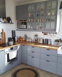 Kitchen Cabinet Design, Interior Design Kitchen, Kitchen Cabinets, 3d Home Design, Küchen Design, Home Decoracion, Kitchen Furniture, Cool Kitchens, Sweet Home