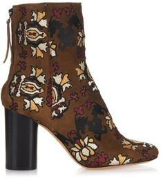 Isabel Marant Guya embroidered suede ankle boots... Just in case I actually win the lottery