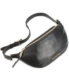 Michael Kors Rhea Zip Belt Bag Black # 1402 for sale online Carteras Michael Kors, Sac Michael Kors, Michael Kors Outlet, Handbags Michael Kors, My Bags, Purses And Bags, Leather Belt Bag, Leather Fanny Pack, Black Leather