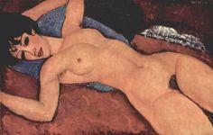 Amedeo Modigliani - Nu vermelho (1917).