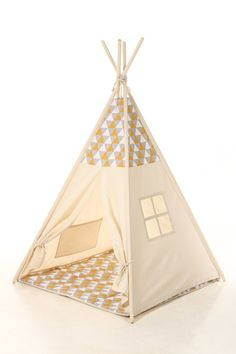 Other – Kids teepee play tent+poles+pillow – a unique product by letterlyy on DaWanda