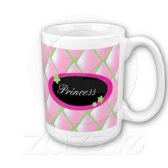 Pink Quilted Diamonds - Princess Coffee Mug