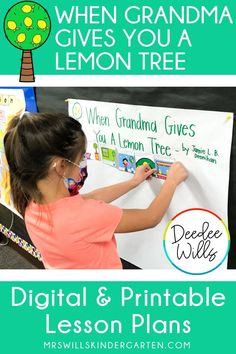 """Lessons Plans for """"When Grandma Gives You a Lemon Tree"""" by Jamie L. B. Deenihan are here! You will love this sweet story with these engaging, reading comprehension lesson plans. Kindergarten Lesson Plans, Sweet Stories, Word Study, Activities To Do, Student Learning, Reading Comprehension, Lemon, Teaching, Digital"""