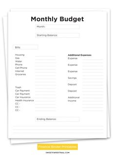 Finance Binder Printables Get A New Look