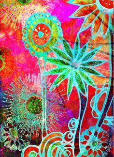 Reverse Flower Design by Robin Mead